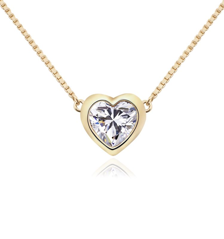 1.5ct Classic Heart Shaped Moissanite Pendant Necklace