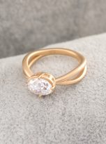 1.5ct Jubilee Yellow Oval Moissanie Crossover Band Ring (11)