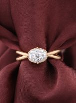 1.5ct Jubilee Yellow Oval Moissanie Crossover Band Ring (12)