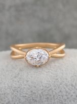 1.5ct Jubilee Yellow Oval Moissanie Crossover Band Ring (8)