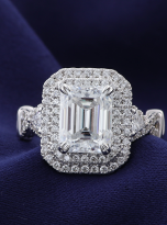 3ct Art Deco Double halo Engagement ring (10)