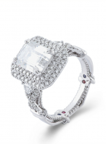 3ct Art Deco Double halo Engagement ring (2)