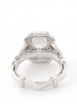 3ct Art Deco Double halo Engagement ring (4)