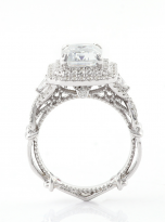 3ct Art Deco Double halo Engagement ring (5)