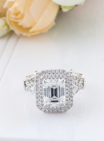 3ct Art Deco Double halo Engagement ring (7)