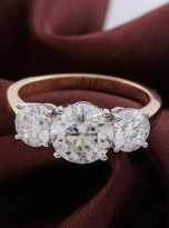 3ct Oval Moissanite Halo with Side Accents Engagement Ring (11)