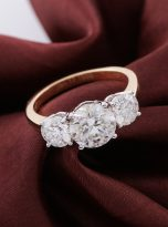 3ct Oval Moissanite Halo with Side Accents Engagement Ring (12)