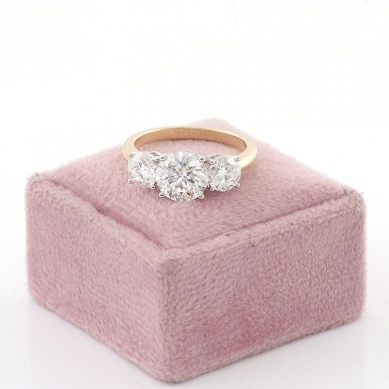 3ct Oval Moissanite Halo with Side Accents Engagement Ring