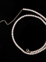 3mm Classic Tennis 14 inch Chain Necklace with 3 inch Extend Chain (12)