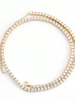 3mm Classic Tennis 14 inch Chain Necklace with 3 inch Extend Chain (8)