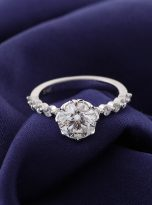 8-Prong Tulip Cathedral Round Moissanite Engagement Ring (10)