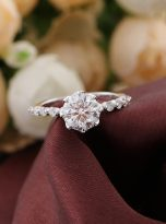 8-Prong Tulip Cathedral Round Moissanite Engagement Ring (5)