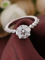 8-Prong Tulip Cathedral Round Moissanite Engagement Ring (6)
