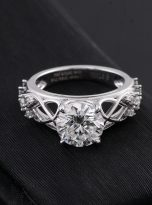 Vintage Moissanite Engagement Ring with 2ct (3)
