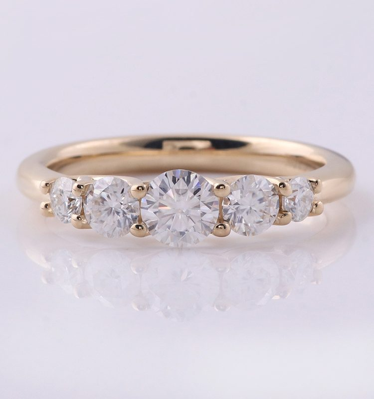 Classic Five Moissanite Ring Band